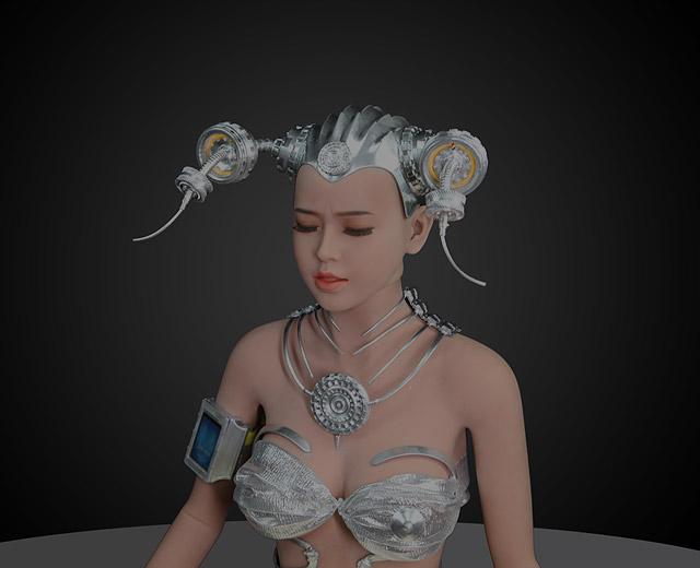 高仿真美女机器人
