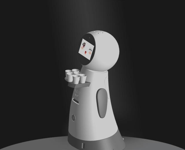 智能前台迎宾机器人小逸