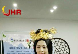 2017年10月01日安徽芜湖市鸠兹古镇新华联旅游度假区古代美女机器人欢迎您