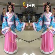 上海惊鸿机器人大堂智能美女机器人前台机器人人形机器人古代迎宾机器人惊鸿一瞥服务机